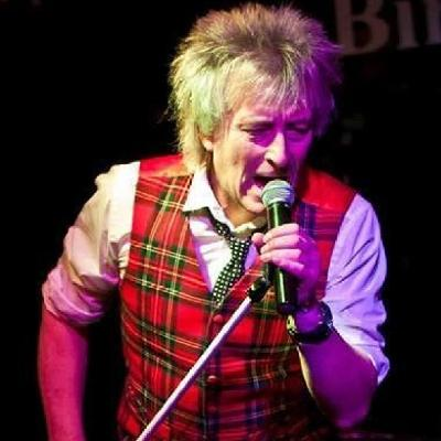 Gary Pease as Rod Stewart